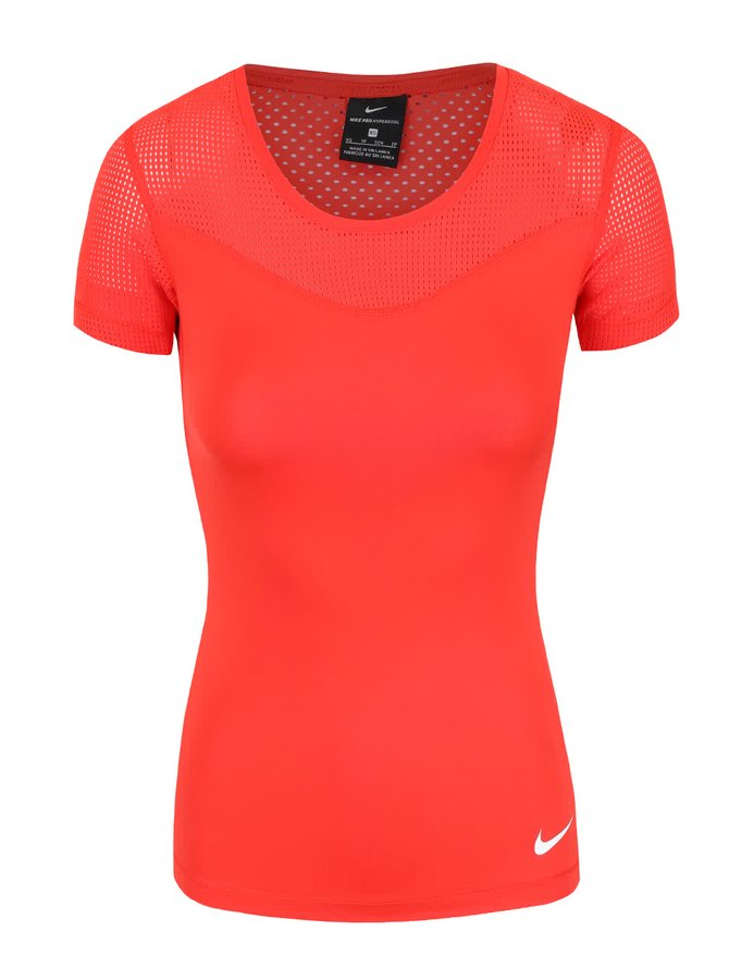 Tricou roșu Nike Pro Hypercool cu plasă