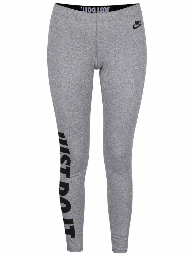 Sivé dámske legíny Nike Leg A See