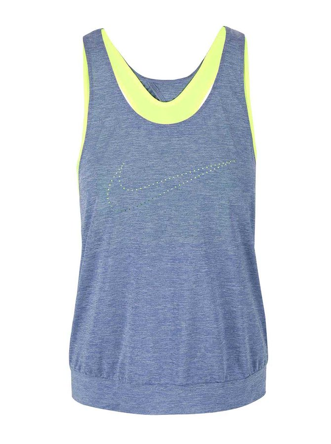 Modré dámske tielko Nike Training