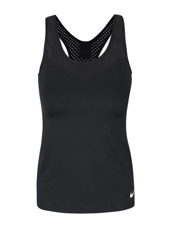 Top negru Nike Pro Hypercool cu plasă