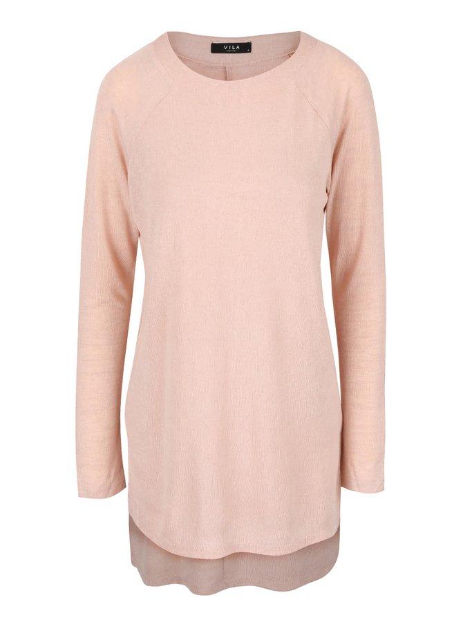 Bluză roz asimetrică VILA Sumina