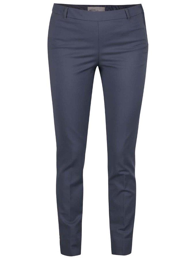 Modrošedé formální slim fit kalhoty Vero Moda Ida