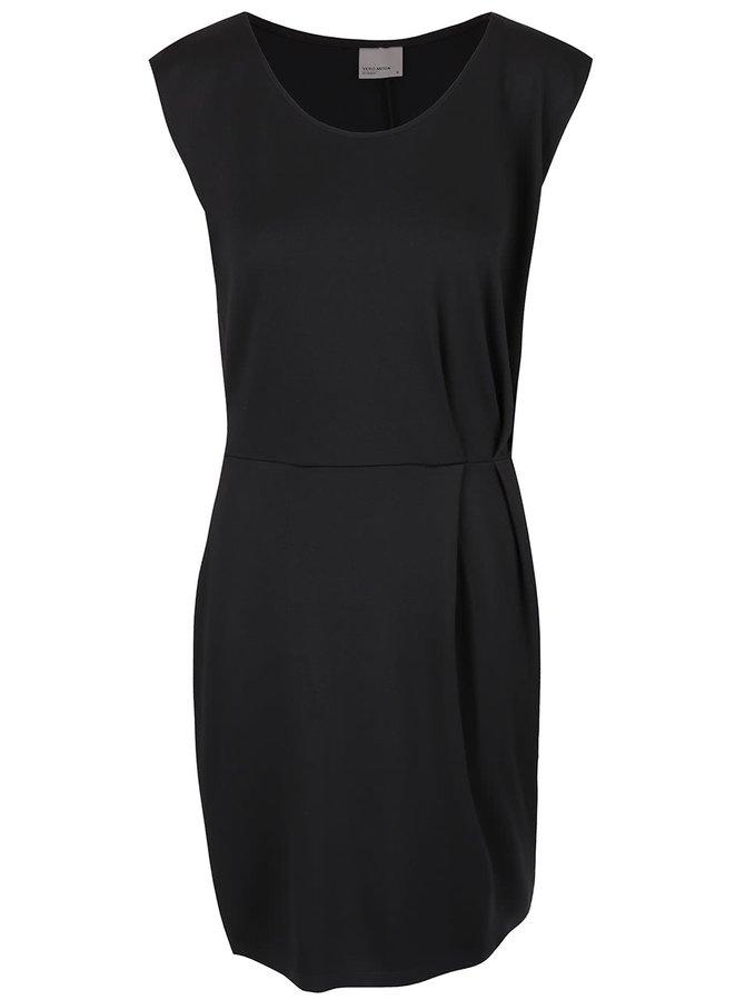 Rochie neagră cu pense Vero Moda Peyto