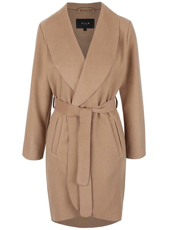 Béžový kabát VILA Ida
