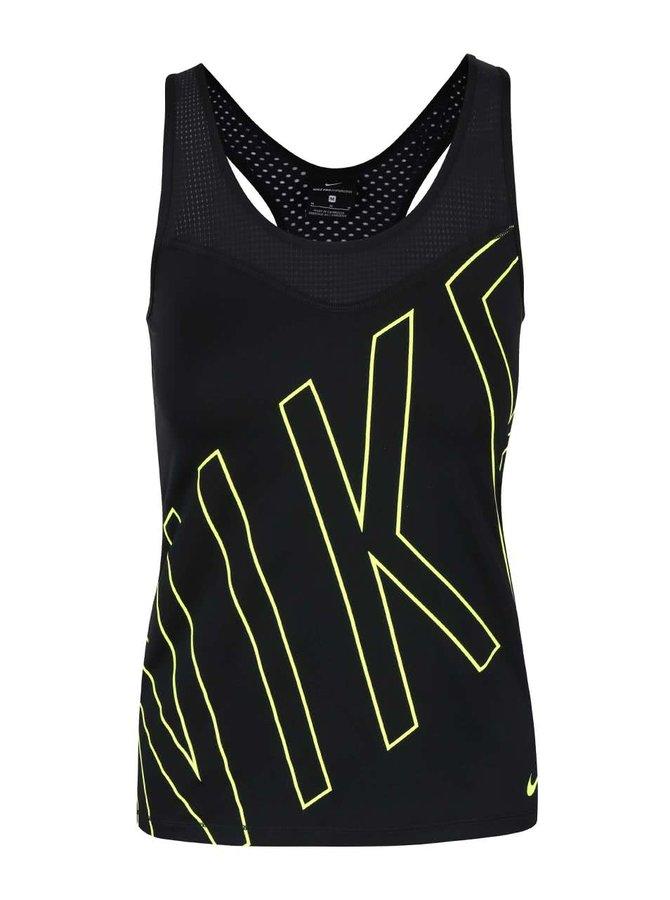 Čierne dámske tielko s logom Nike