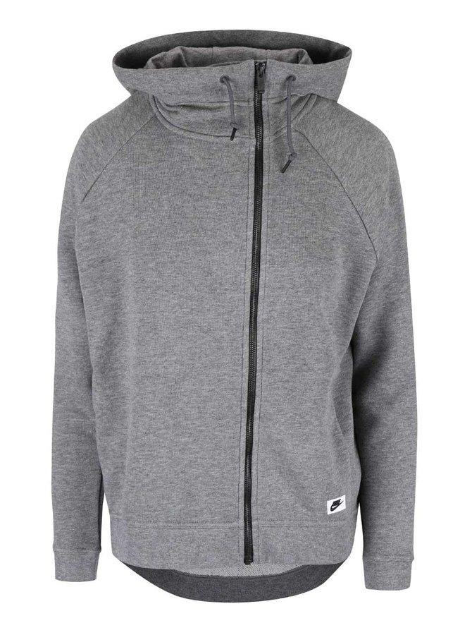 Hanorac gri Nike Modern Cape cu tiv asimetric
