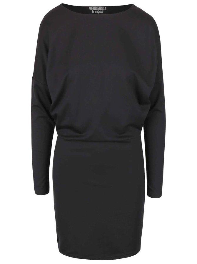 Černé šaty s průstřihem na zádech VERO MODA Kelly
