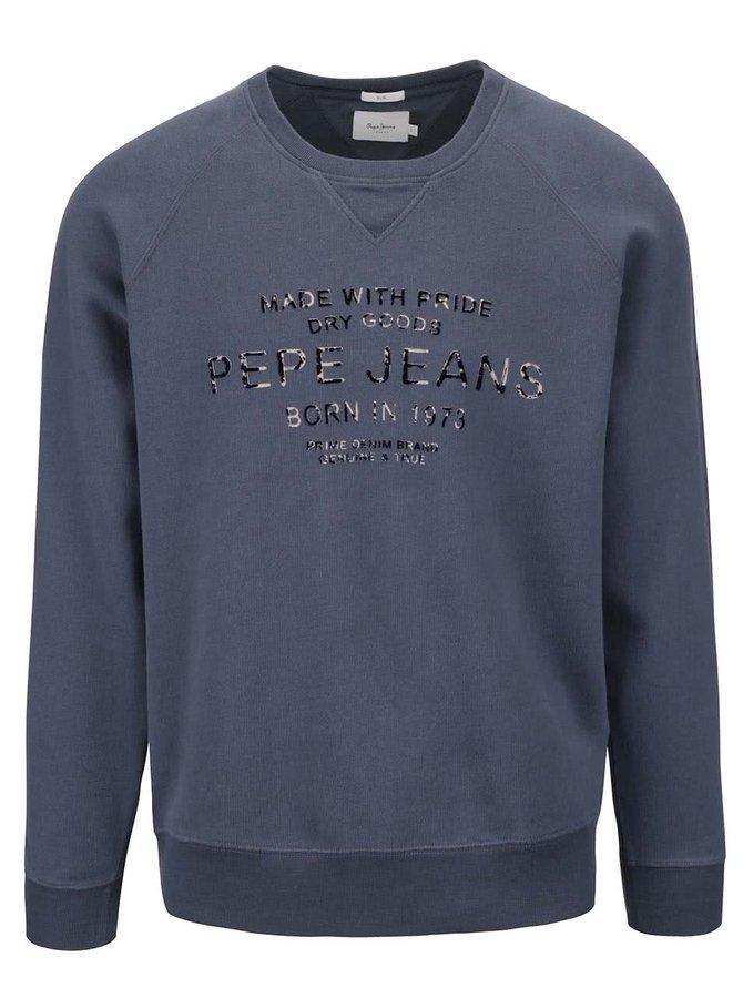 Bluză albastră Pepe Jeans Zelus din bumbac