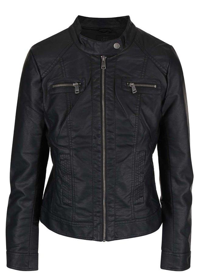 Jachetă neagră ONLY Bandit din piele sintetică