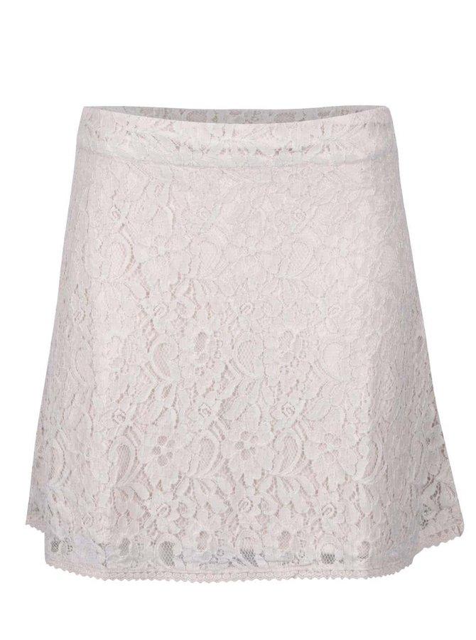 Krémová krajková sukně ONLY Lace