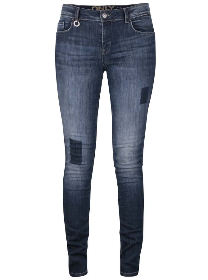Tmavě modré slim fit džíny ONLY Carmen