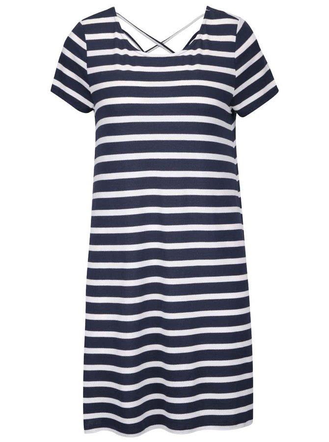 Krémovo-modré pruhované šaty ONLY Bera