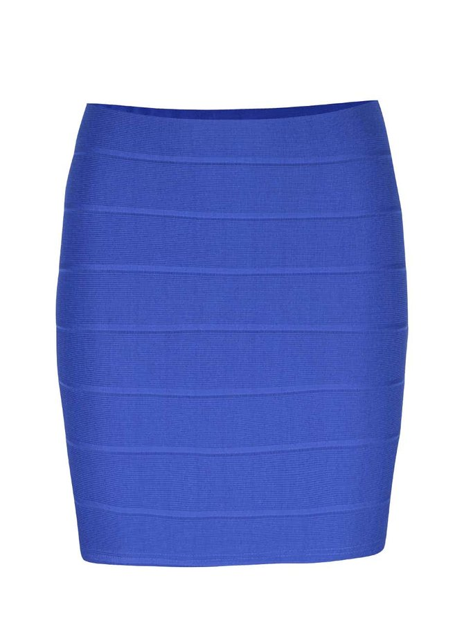 Modrá upnutá minisukňa Miss Selfridge Petites