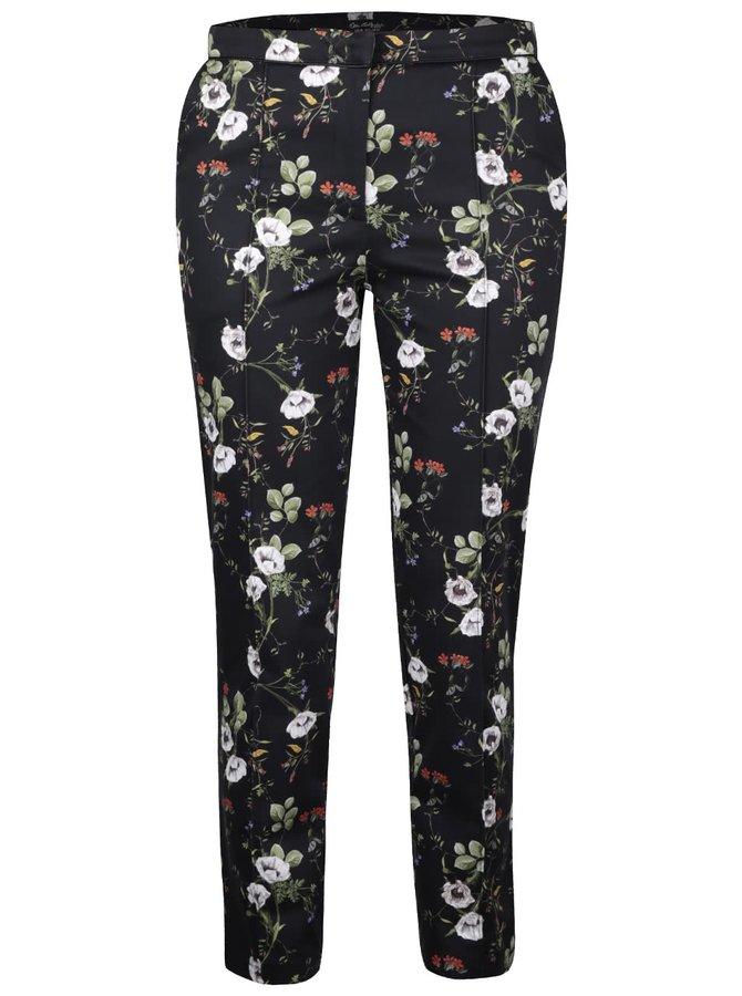 Černé květinové kalhoty Miss Selfridge