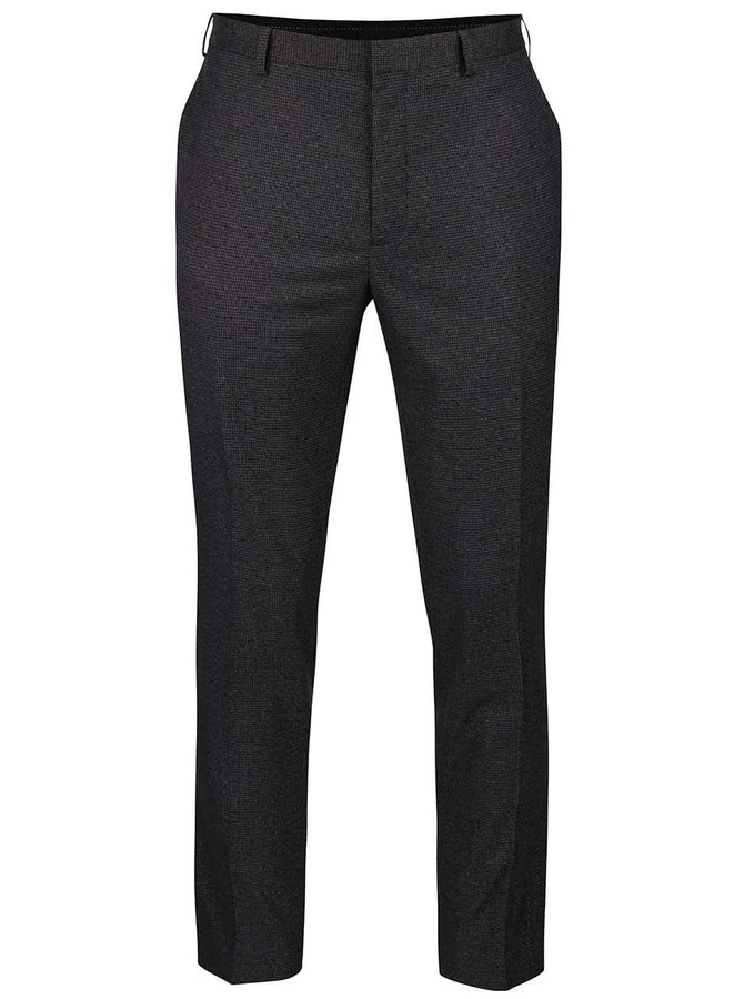 Tmavě šedé skinny formální kalhoty Burton Menswear London