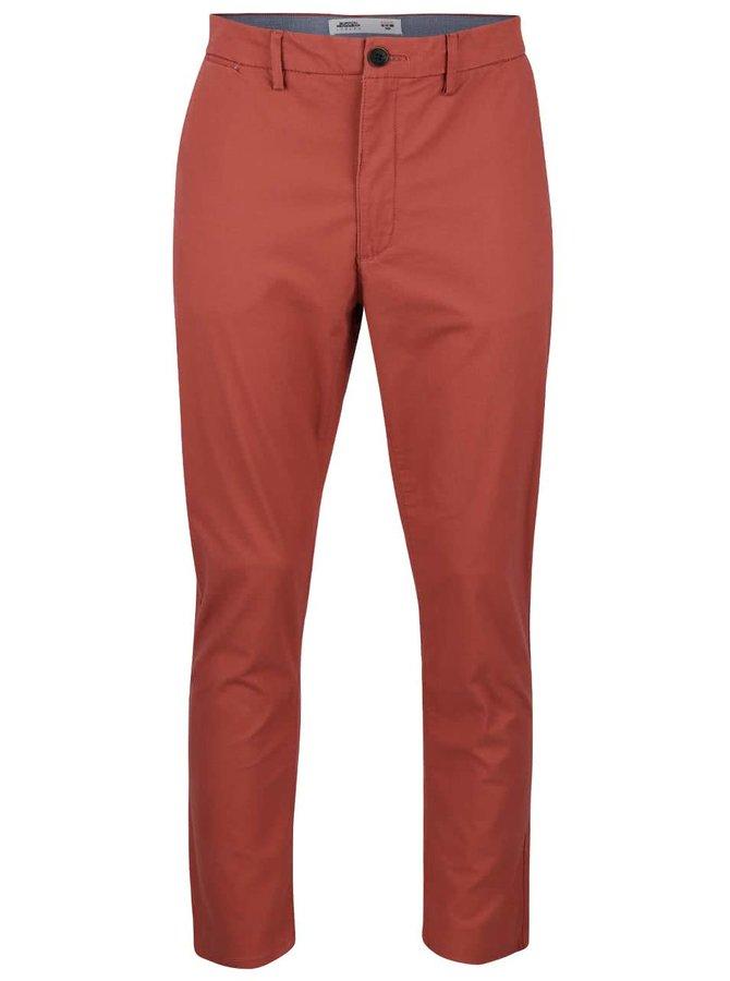 Cihlové slim chino kalhoty Burton Menswear London