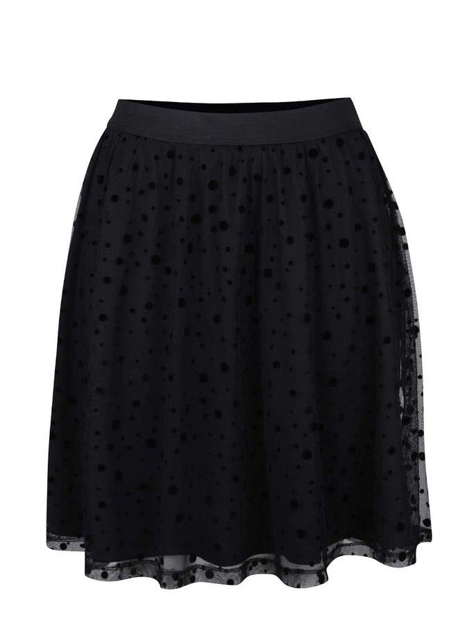 Černá sukně s puntíky ONLY Lajka