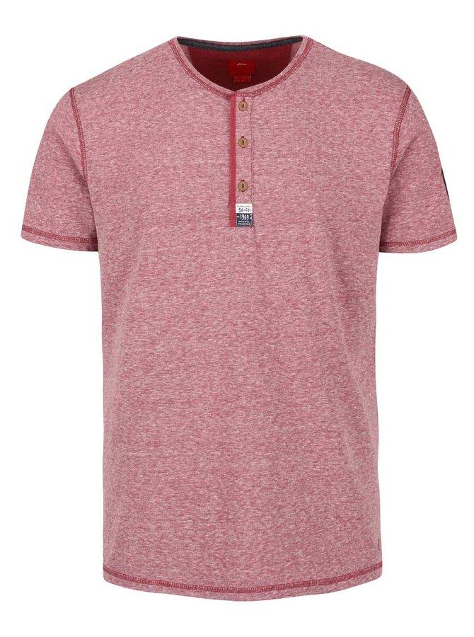 Tricou roșu melanj s.Oliver