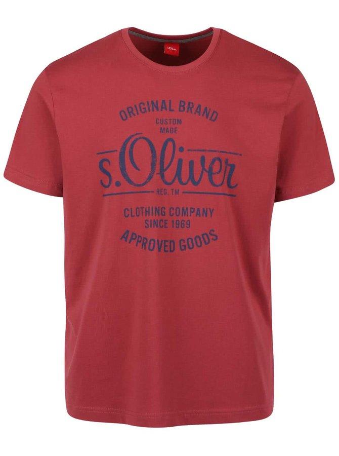 Tricou vișiniu s.Oliver din bumbac