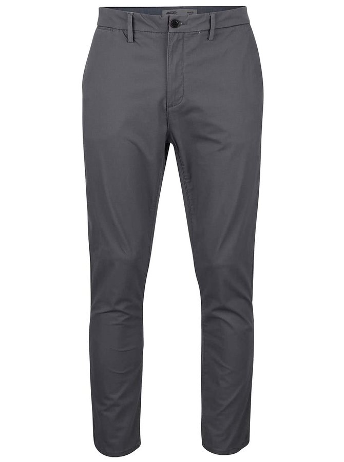 Pantaloni chinos gri-închis slim fit Burton Menswear London