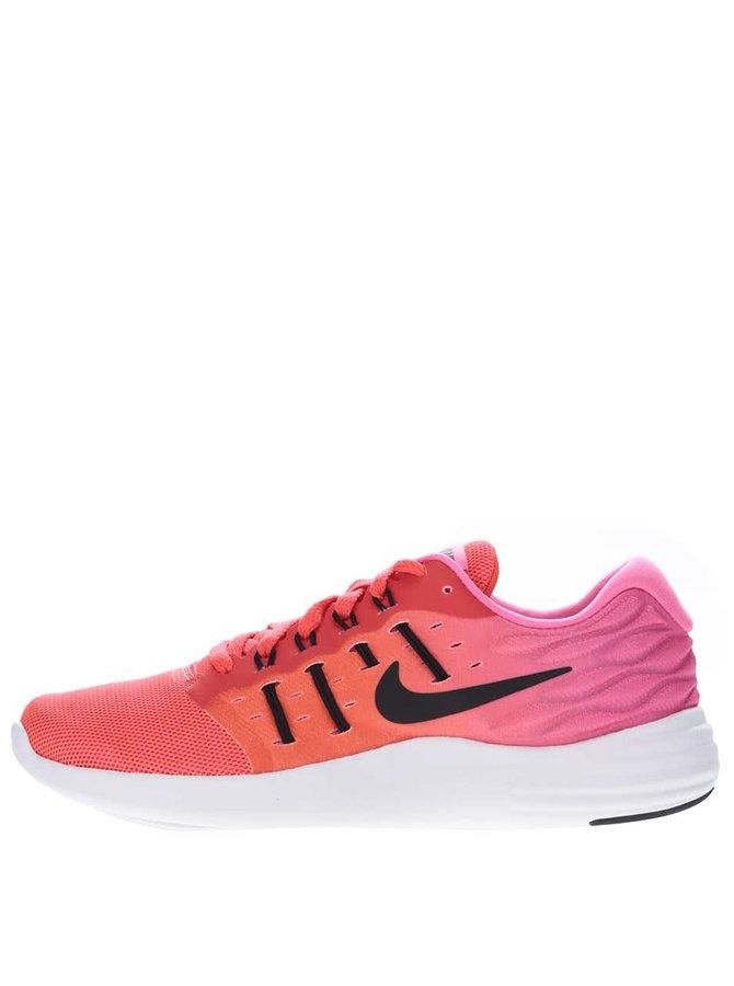 Ružové neónové dámske tenisky Nike Lunarstelos