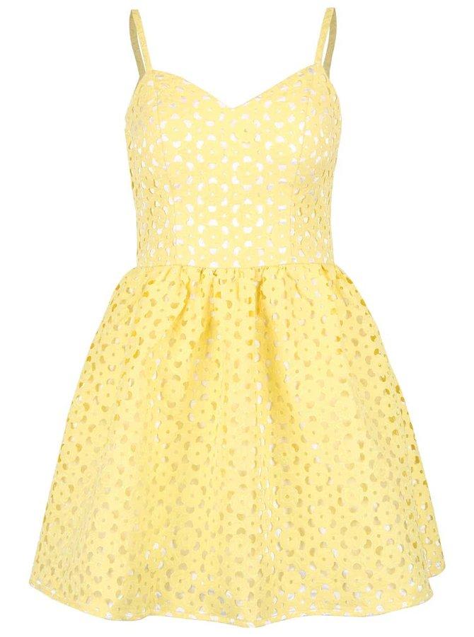 Rochie galbenă Chi Chi London cu perforații