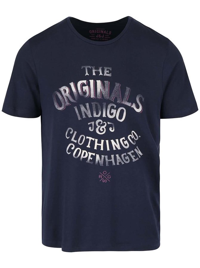 Tmavě modré triko s potiskem Jack & Jones Type