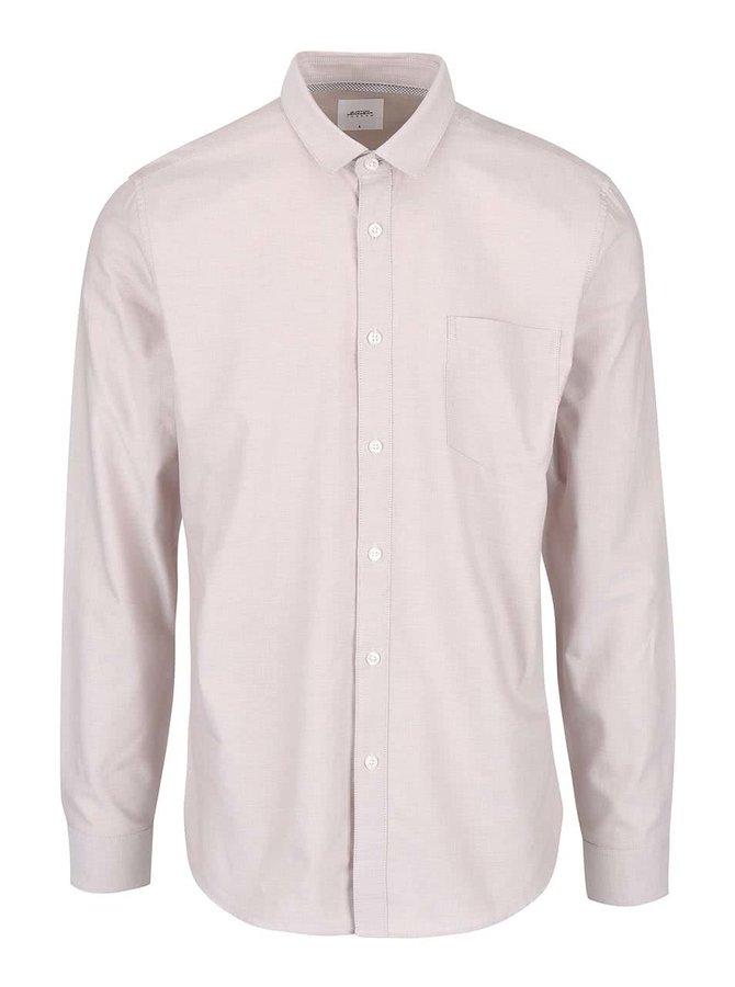 Světle béžová košile s kapsou Burton Menswear London