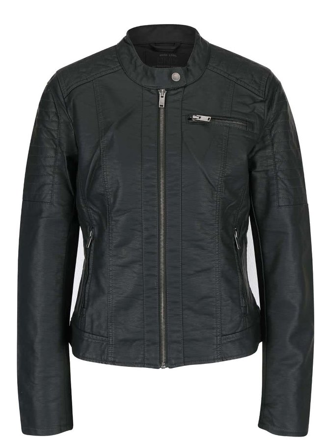 Jachetă gri ONLY New Start din piele sintetică