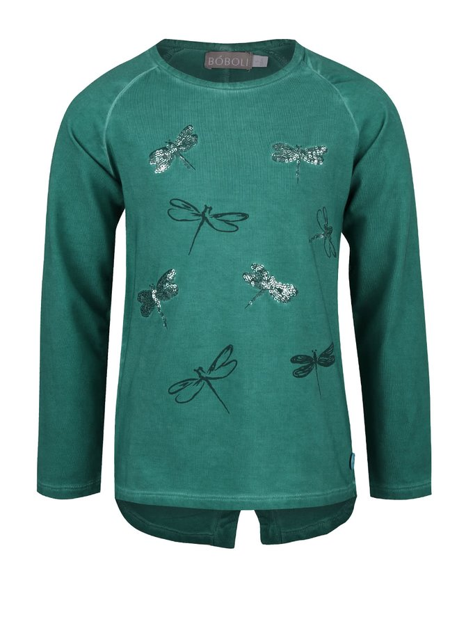 Zelené dievčenské tričko s vážkami Bóboli
