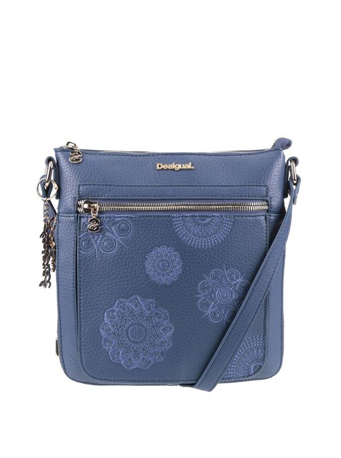 Modrá crossbody kabelka na zips Desigual Moscue