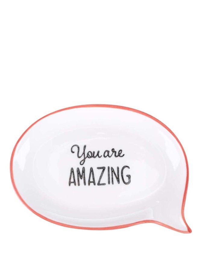 Krémová keramická miska na šperky Sass & Belle You Are Amazing
