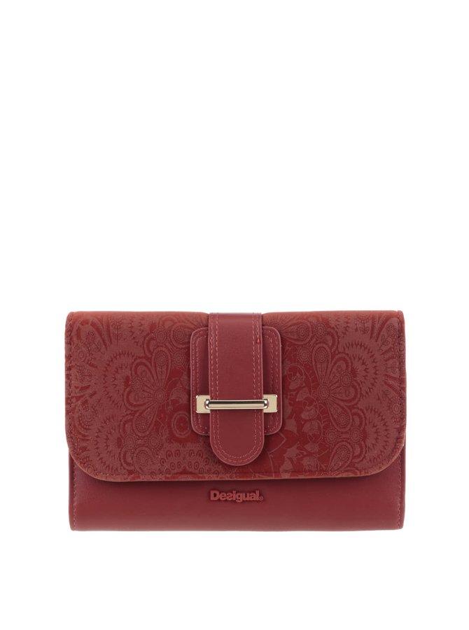 Portofel roșu cărămiziu Desigual Lengueta Velvet cu model