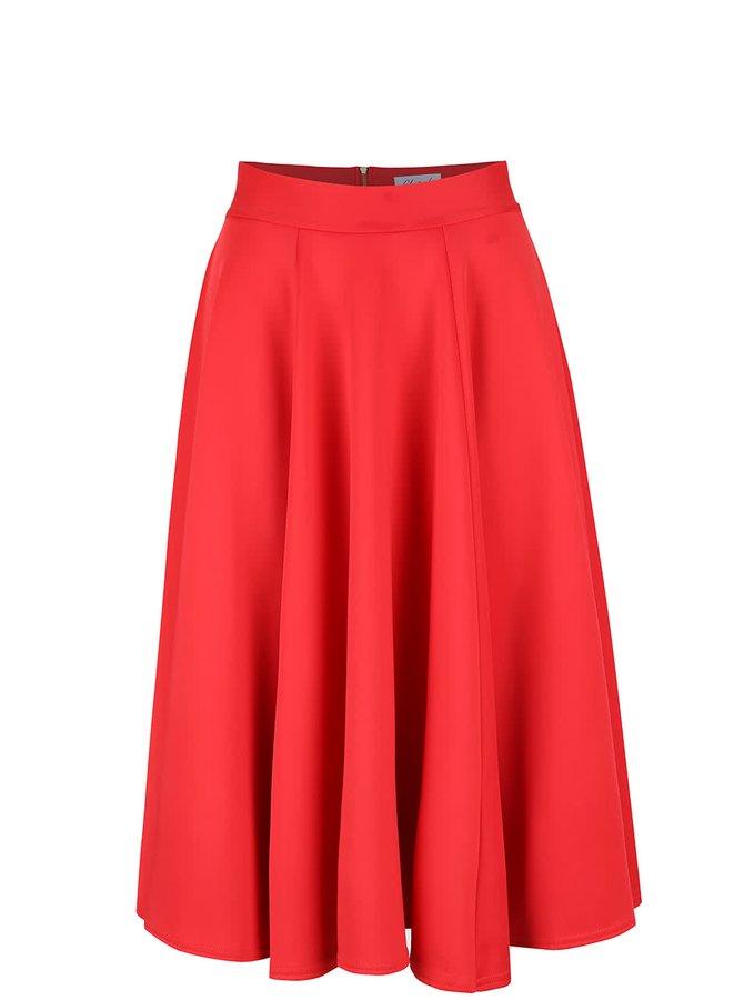 Fustă midi roșie Closet