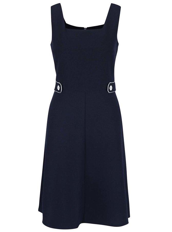 Tmavě modré šaty s hranatým výstřihem Dorothy Perkins
