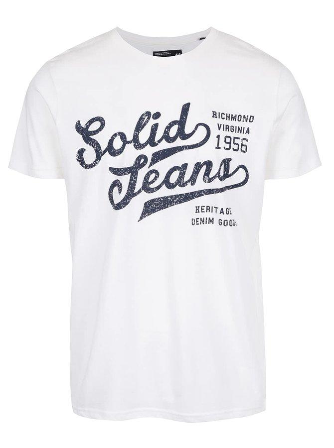 Krémové tričko s nápisom !Solid Deodat