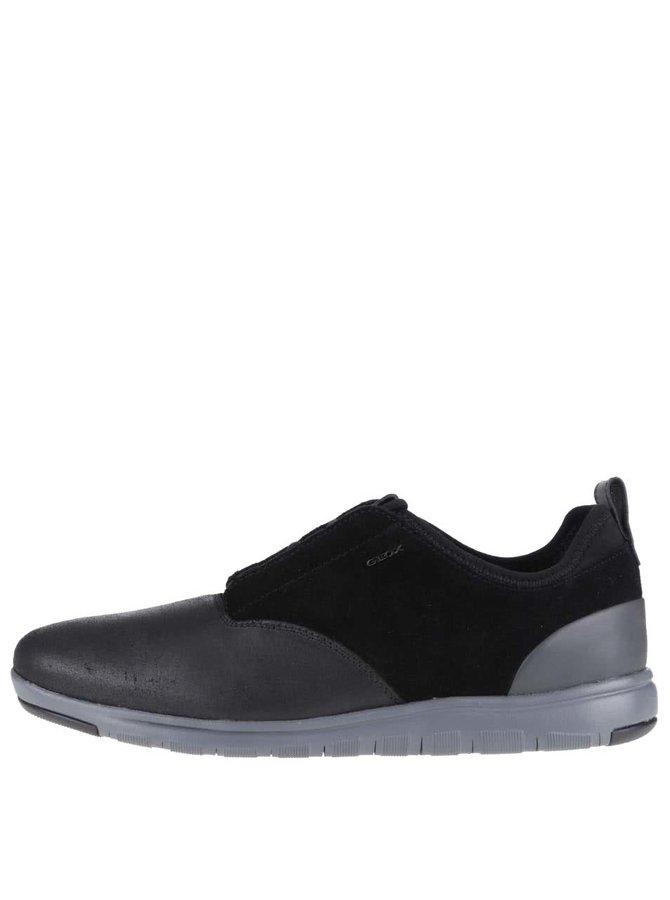 Pantofi sport din piele bărbătești negri Geox Xunday