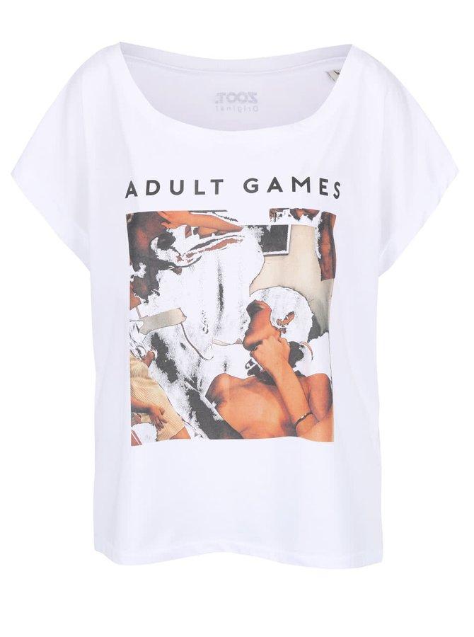Bílé dámské volnější tričko ZOOT Originál Adult Games