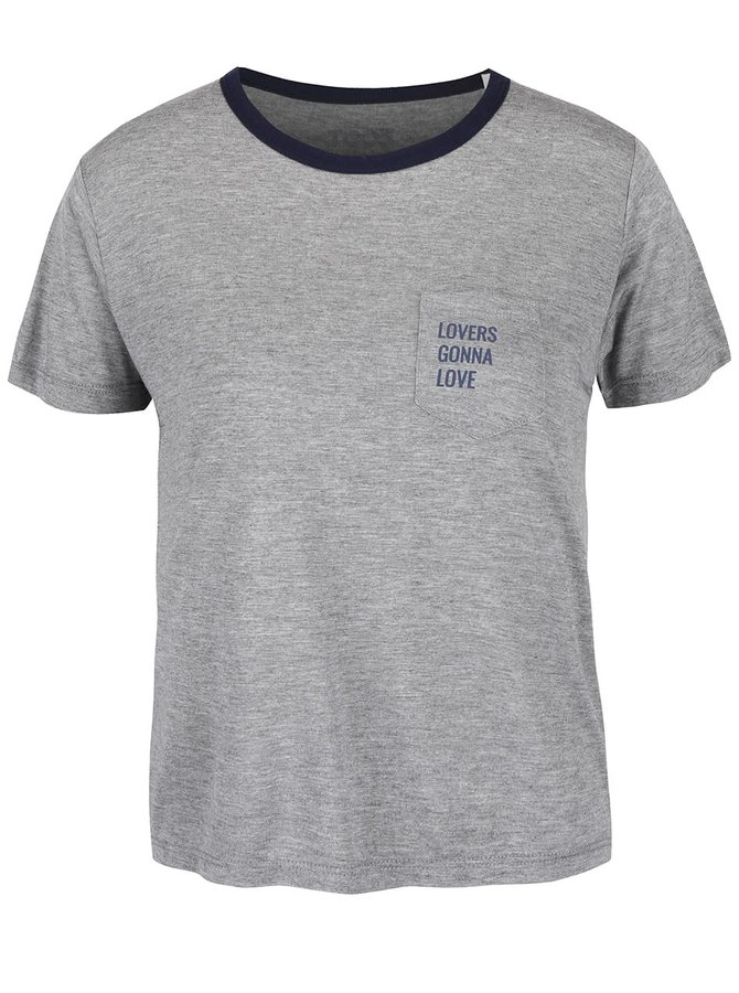 Sivé dámske tričko ZOOT Originál Lover Gonna Love