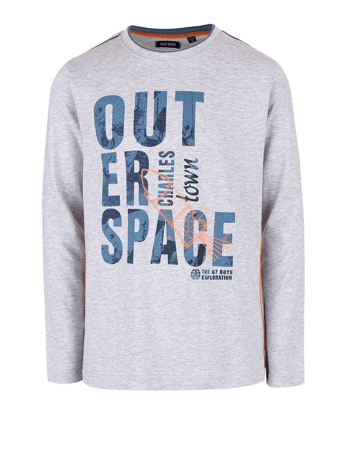 Bluză gri deschis Blue Seven de băieți