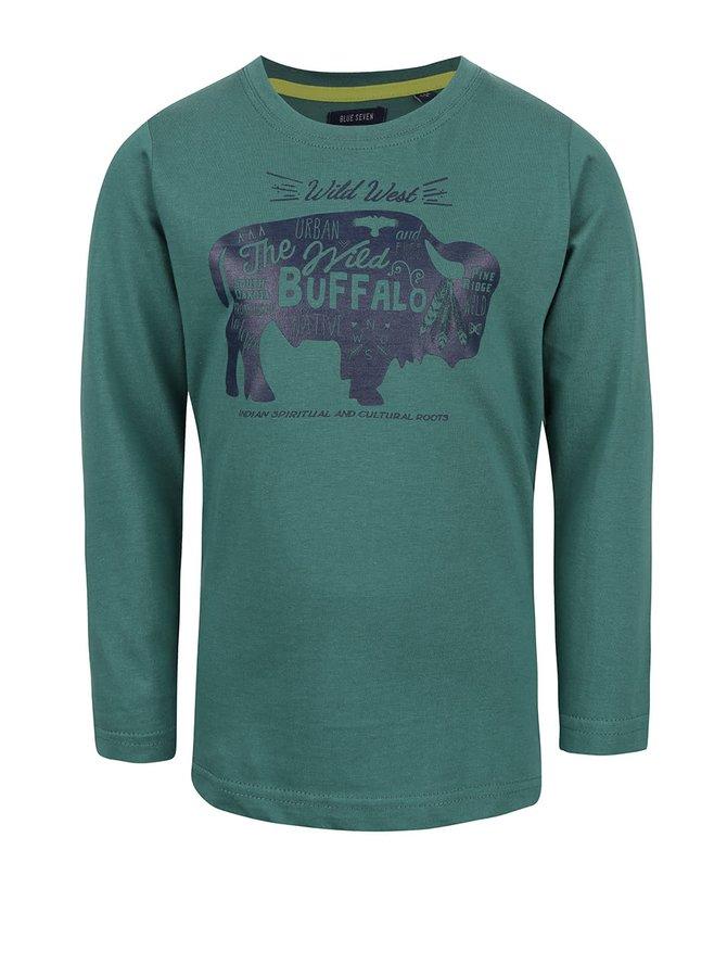 Tmavozelené chlapčenské tričko s westernovým motívom Blue Seven