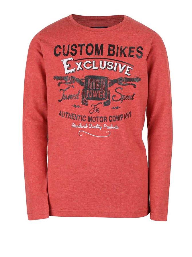 Bluză roșie cu print Blue Seven de băieți