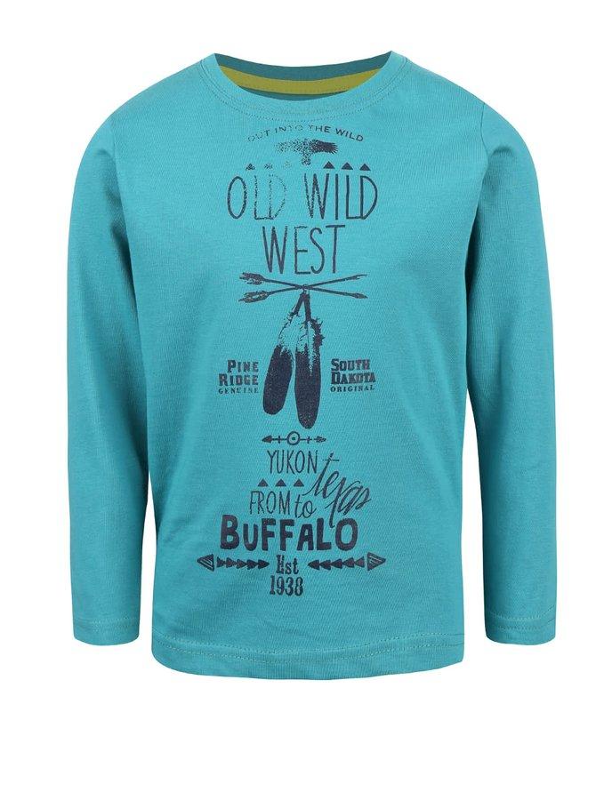 Petrolejové chlapčenské tričko s potlačou Blue Seven