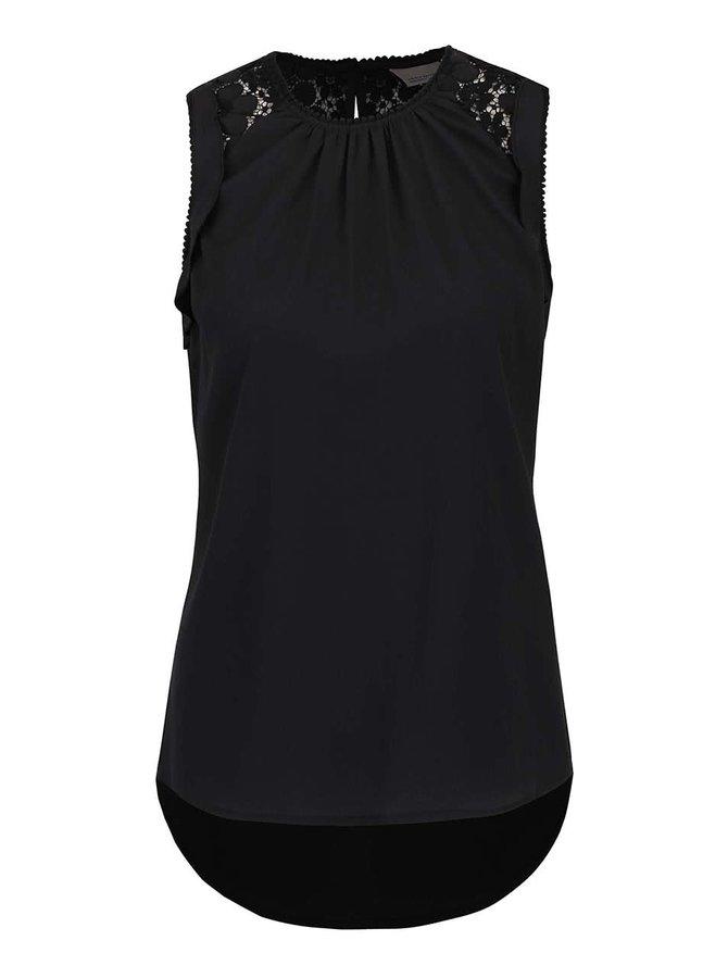 Černá halenka s krajkou na zádech Vero Moda Ola