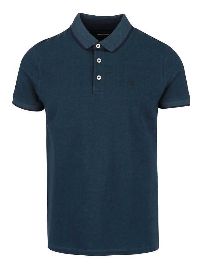 Petrolejové polo triko Jack & Jones Paulos
