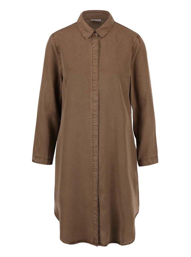 Kaki dlhá košeľa Vero Moda Alexia