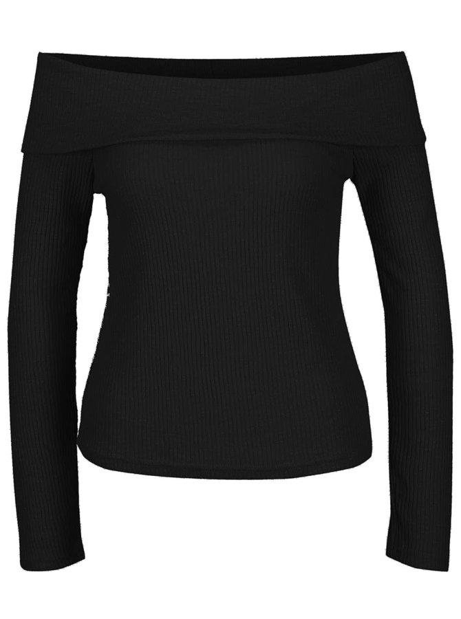 Čierny top s odhalenými ramenami Noisy May Sarah