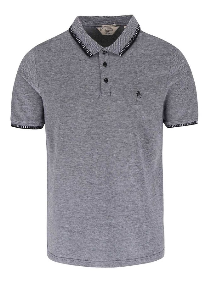 Tricou polo Original Penguin Tipped duo gri