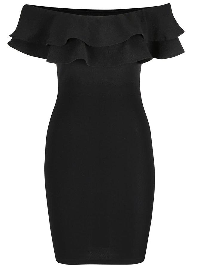 Černé šaty s odhalenými rameny AX Paris