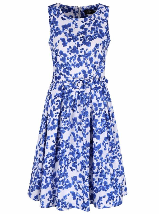 Modro-biele kvetinové šaty Dolly & Dotty Annie